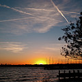 Sunset Over The Marina by Rod Lindley