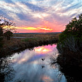 Sunset Over The Marsh by Christopher Holmes