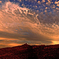 Sunset Over The Moab Rim 2 by Dan Norris