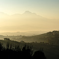Sunset Over The Mountains Of Italy by Andrea Mazzocchetti