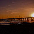 Sunset Over The Newport Beach Pier by Tommy Anderson