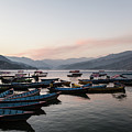 Sunset Over The Phewa Lake In Pokhara In Nepal by Didier Marti