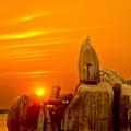Bismarck Rock At Sunset by Patrick Kain