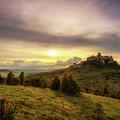 Sunset Over The Ruins Of Spis Castle In Slovakia by Miroslav Liska