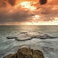 Sunset Over The Sea In Israel by Yatir Nitzany