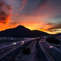 Sunset Over The Soda Mountains by Mountain Dreams
