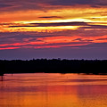 Sunset Over The Tomoka by DigiArt Diaries by Vicky B Fuller