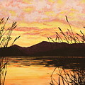 Sunset Over The Water by Michelle Miron-Rebbe