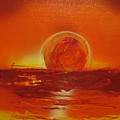 Sunset Over Troubled Waters by Allison Eads