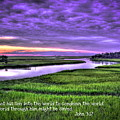 Sunset Over Turners Creek John 3 17 by Reid Callaway