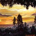 Sunset Over Wrightwood by Olga Kaczmar