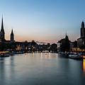 Sunset Over Zurich by Didier Marti