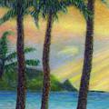 Sunset Palms by Kenneth Grzesik