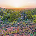 Sunset Panorama At Enchanted Rock State Natural Area - Fredericksburg Texas Hill Country by Silvio Ligutti