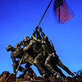 Sunset Photo At The Iwo Jima Monument by William Rogers