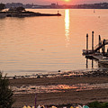 Sunset, Portland, Maine  -07817 by John Bald