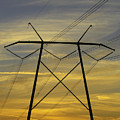 Sunset Power Poles by Dart and Suze Humeston