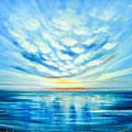 Sunset Quest Blue by Gina De Gorna
