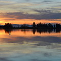 Sunset Reflections by AJ Schibig