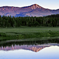 Sunset Reflections At Oxbow Bend by Rodney Cammauf