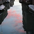 Sunset Reflections In Venice by Erla Zwingle