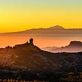 Sunset Roque Nublo by Javier Martinez Moran