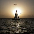 Sunset Sail - Key West by Frank Mari
