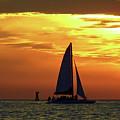 Sunset Sail Away by D Hackett
