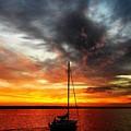 Sunset Sailboat by Greg Kear