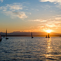 Sunset Sailboats by Tom Dowd