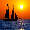 Sunset Sailing In Key West Florida by Michael Bessler