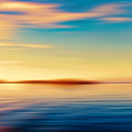 Sunset Seascape Island by Jan Brons