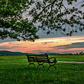 Sunset Seating Portrait by Howard Roberts