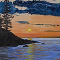 Sunset Series 1 Isle Royale Lake Superior by Jim Hallenbeck