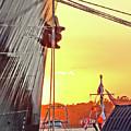 Sunset Ship by Wayne Wescott