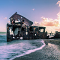 Sunset Shipwreck by Cameron Richardson