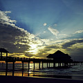 Sunset Silhouette Pier 60 by D Hackett