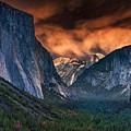 Sunset Skies Over Yosemite Valley by Rick Berk