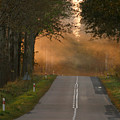 Sunset Somewhere On The Road by Adam Szewczak