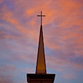Sunset Steeple by Toni Hopper