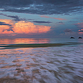 Sunset Storm Clouds Over Kailua Beach by Charmian Vistaunet