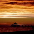 Sunset Stroll Along The Beach 2582 H_2 by Steven Ward