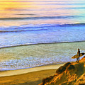 Sunset Surf At La Jolla by Dominic Piperata