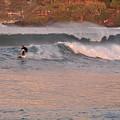 Sunset Surfing by Csilla Florida