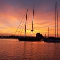 Sunset Tall Ships by Steven Natanson