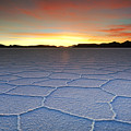 Lake Uyuni Sunset Texture by Aivar Mikko