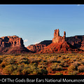 Sunset Tour Valley Of The Gods Utah Text 09 Black by Thomas Woolworth