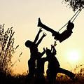 Sunset Tree Swing by Tim Gainey