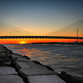 Sunset Under The Indian River Inlet Bridge by Bill Swartwout Fine Art Photography