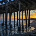 Sunset Under The Ventura Pier by Lynn Bauer